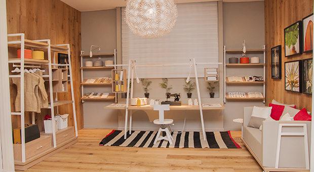 """""""ANUSHKA"""" de Muchnik team + Arq. Cynthia de Winne.  Ambiente inspirado en el espacio de una joven diseñadora de indumentaria."""